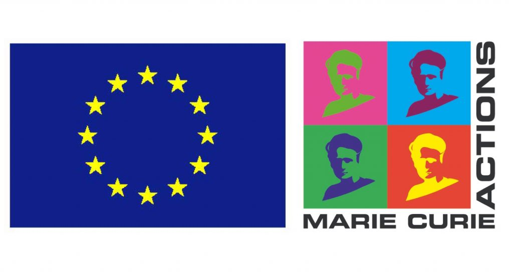 EU flag and Marie Curie Actions logo